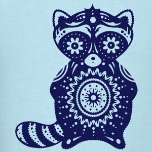 A raccoon in the style of Sugar Skulls T-Shirts - Men's T-Shirt