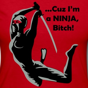 Cuz I'm a NINJA Long Sleeve Shirts - Women's Long Sleeve Jersey T-Shirt