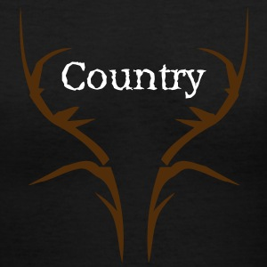 slightly country  Women's T-Shirts - Women's V-Neck T-Shirt