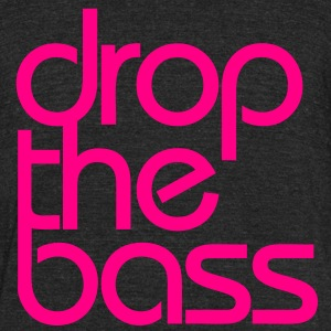 Drop The Bass (classic) - Unisex Tri-Blend T-Shirt by American Apparel