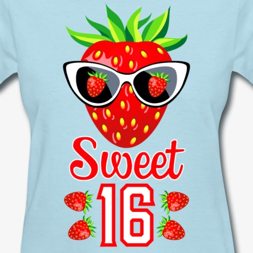 1 Sweet 16th Birthday Girlie Strawberry Sunglasses