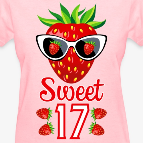 2 Sweet 17th Birthday Girlie Strawberry Sunglasses
