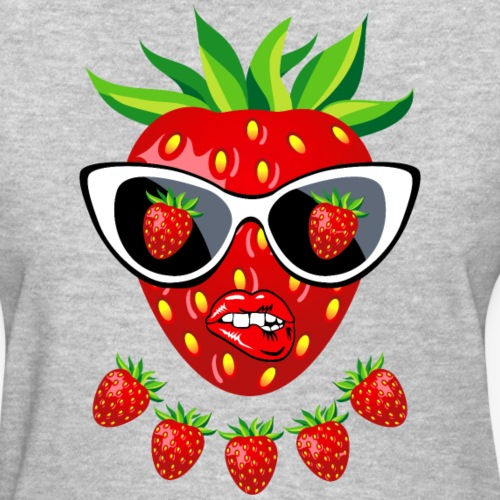 Sweet Strawberry Sunglasses Kissing Lips 23