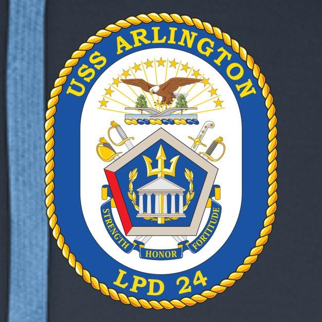 USS ARLINGTON LPD-24 HOODIE