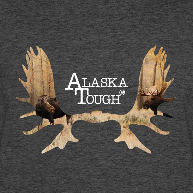 Moose T-Shirt with Antlers for Men