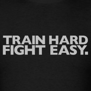 Train Hard Gym Motivation T-Shirts - Men's T-Shirt