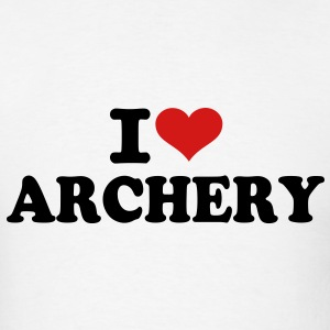 I love Archery T-Shirts - Men's T-Shirt
