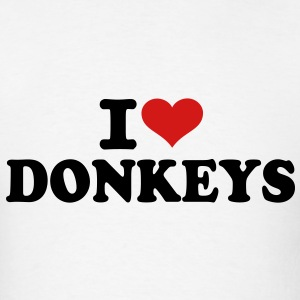 I love Donkeys T-Shirts - Men's T-Shirt