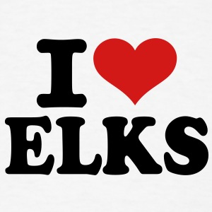 I love Elks T-Shirts - Men's T-Shirt