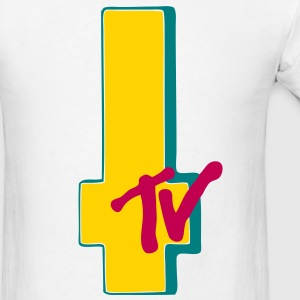 MTV Cross Wht 2 - Men's T-Shirt