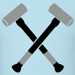 double crossed crossbones two sledgehammer hammers T-Shirts - Men's T-Shirt