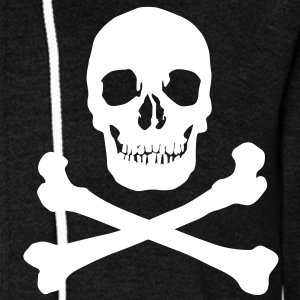 Pirate skull Zip Hoodies/Jackets - Unisex Fleece Zip Hoodie by American Apparel