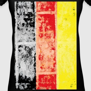 German vintage flag - Women's V-Neck T-Shirt