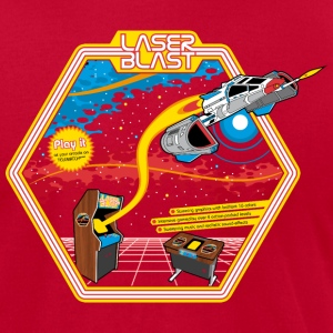 LaserBlast (for darkshirts) T-Shirts - Men's T-Shirt by American Apparel