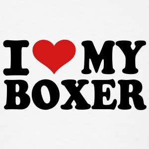 I love My Boxer T-Shirts - Men's T-Shirt