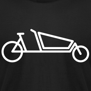 bakfiet cargo bicycle logo T-Shirts - Men's T-Shirt by American Apparel