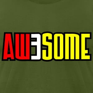 aw3some T-Shirts - Men's T-Shirt by American Apparel