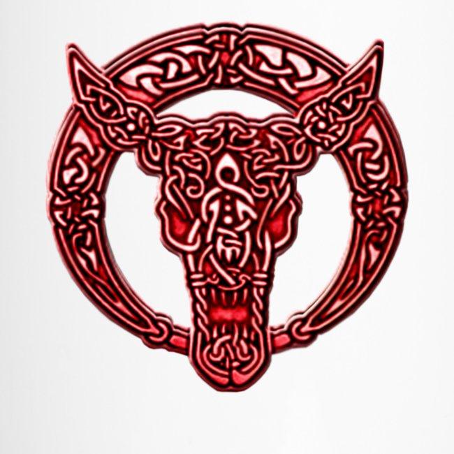 Atteestude Gifts Red Celtic Bull Celtic Knots Travel Mug Travel Mug
