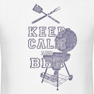 KEEP CALM AND BBQ BARBECUE   T-Shirts - Men's T-Shirt