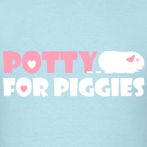'Potty for Piggies' Men's/Unisex T-Shirt  - Men's T-Shirt