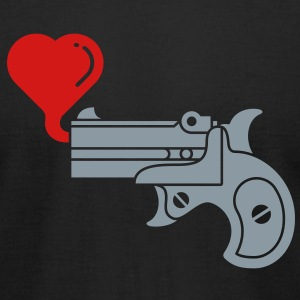 Pistol Blowing Heart Bubbles T-Shirts - Men's T-Shirt by American Apparel