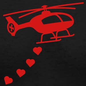 Army Helicopter Bombing Love Women's T-Shirts - Women's V-Neck T-Shirt