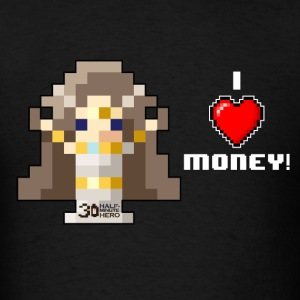 Time Goddess - I HEART Money (White text) T-Shirts - Men's T-Shirt