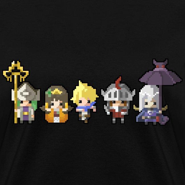 Half Minute Hero row of main characters Women's T-shirt