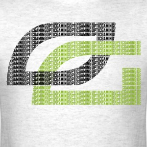 OpTic Logo Spell-out black o - Men's T-Shirt
