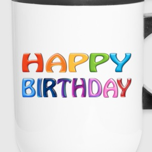 Happy Birthday - Happy Colourful Greeting 2 - Travel Mug