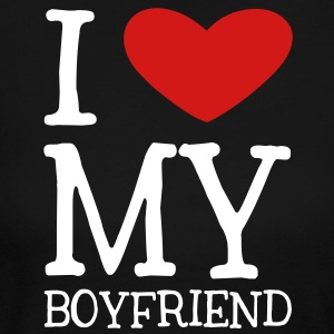 I Heart My Boyfriend Long Sleeve Shirts - Women's Long Sleeve Jersey T-Shirt