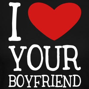 I Heart Your Boyfriend Long Sleeve Shirts - Women's Long Sleeve Jersey T-Shirt