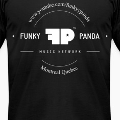 Funky Panda Front - Middle Design T-Shirts