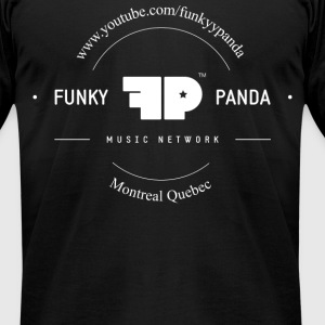 Funky Panda Front - Middle Design T-Shirts - Men's T-Shirt by American Apparel