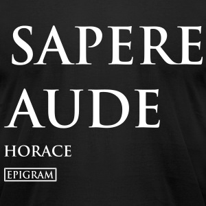 Sapere Aude Men's T-shirt - Men's T-Shirt by American Apparel