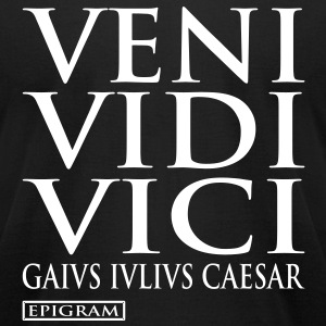 Veni Vidi Vici Men's T-shirt - Men's T-Shirt by American Apparel