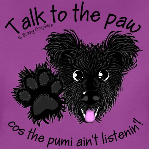 Paw Hungarian pumi black