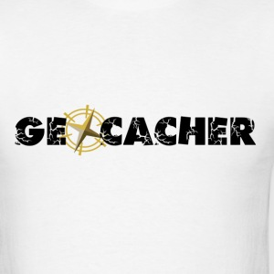 Geocacher with Compass as O - Men's T-Shirt