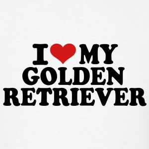 I love my Golden Retriever T-Shirts - Men's T-Shirt