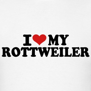 I love my Rottweiler T-Shirts - Men's T-Shirt