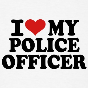 I love my Police Officer T-Shirts - Men's T-Shirt