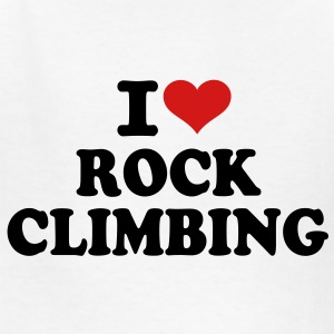 I love Rock Climbing Kids' Shirts - Kids' T-Shirt