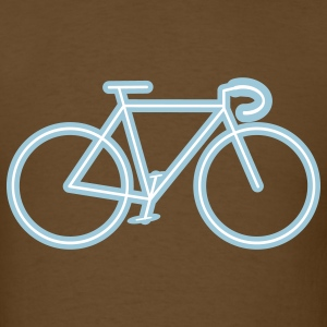 bike outline men's t-shirt - Men's T-Shirt