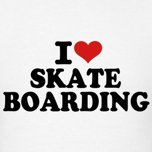 I love Skateboarding T-Shirts - Men's T-Shirt