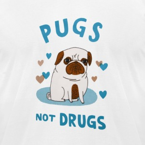 Pugs. Not drugs. T-Shirts - Men's T-Shirt by American Apparel
