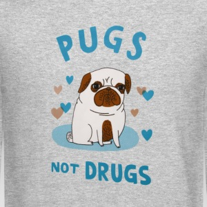 Pugs. Not drugs. Long Sleeve Shirts - Crewneck Sweatshirt