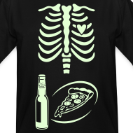 Design ~ Dad to Be Skeleton Tee with Pizza &