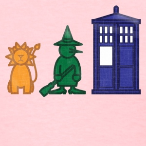 A lion, a witch, and a... phone box? - Women's T-Shirt