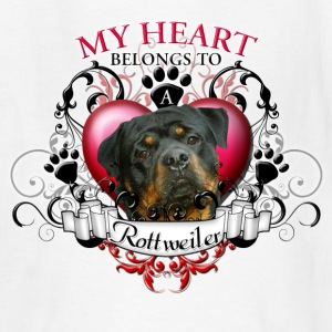 My Heart Belongs to a Rottweiler Kids' Shirts - Kids' T-Shirt