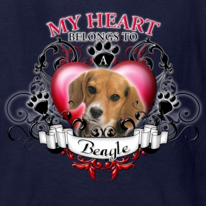 My Heart Belongs to a Beagle Kids' Shirts - Kids' T-Shirt